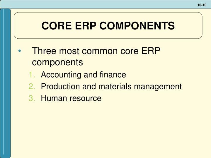 CORE ERP COMPONENTS