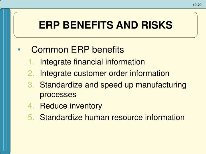 ERP BENEFITS AND RISKS