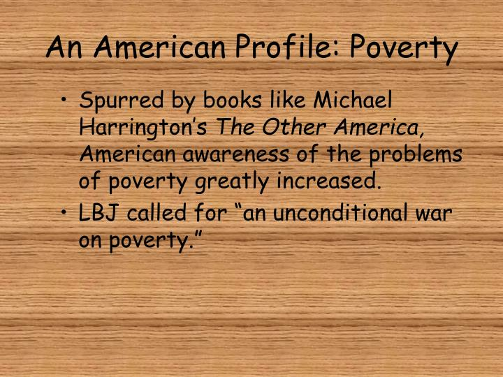 An American Profile: Poverty