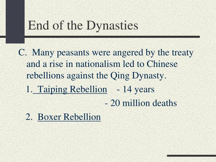 End of the Dynasties