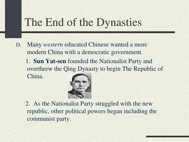 The End of the Dynasties
