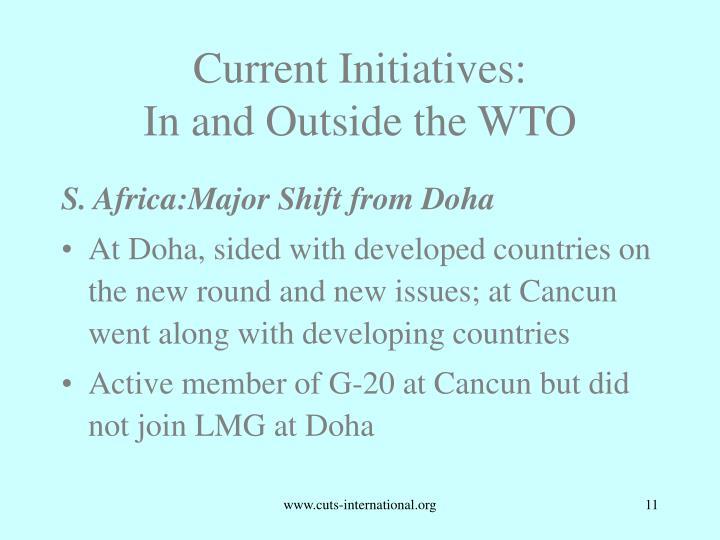 Current Initiatives: