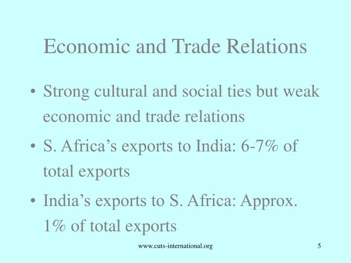 Economic and Trade Relations