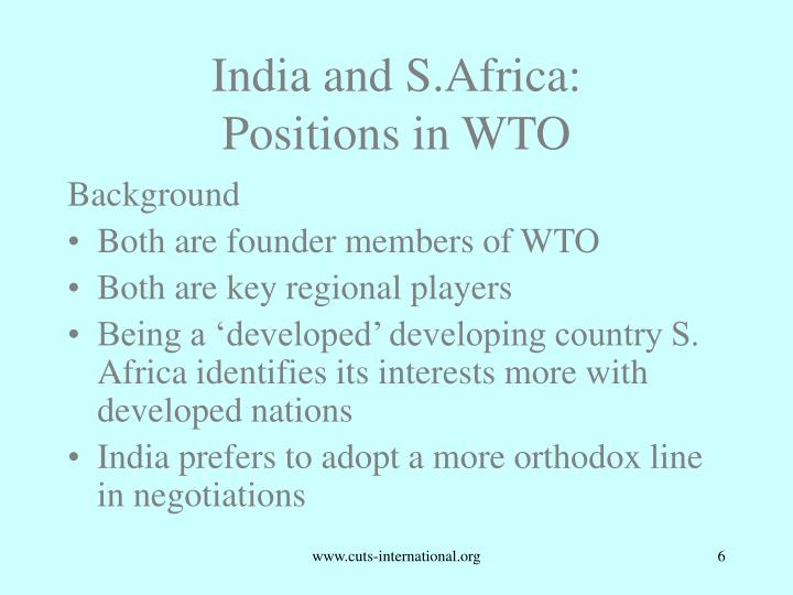 India and S.Africa: