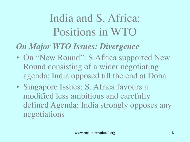 India and S. Africa: