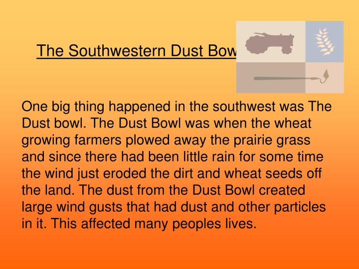 The Southwestern Dust Bowl