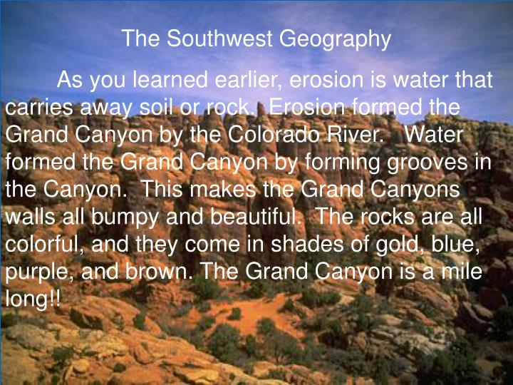 The Southwest Geography
