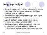 lengua principal