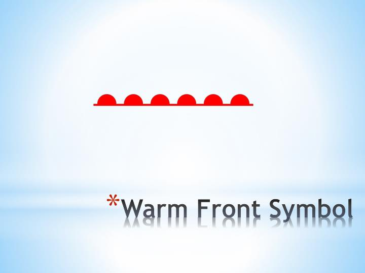 Warm Front Symbol