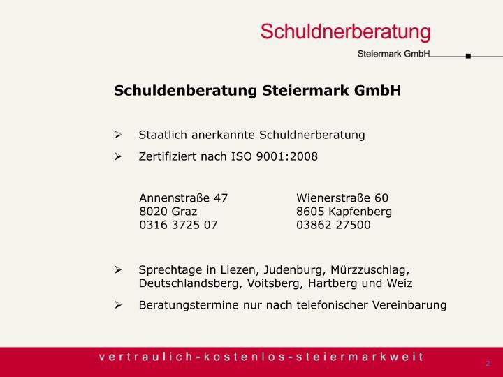 Schuldenberatung Steiermark GmbH