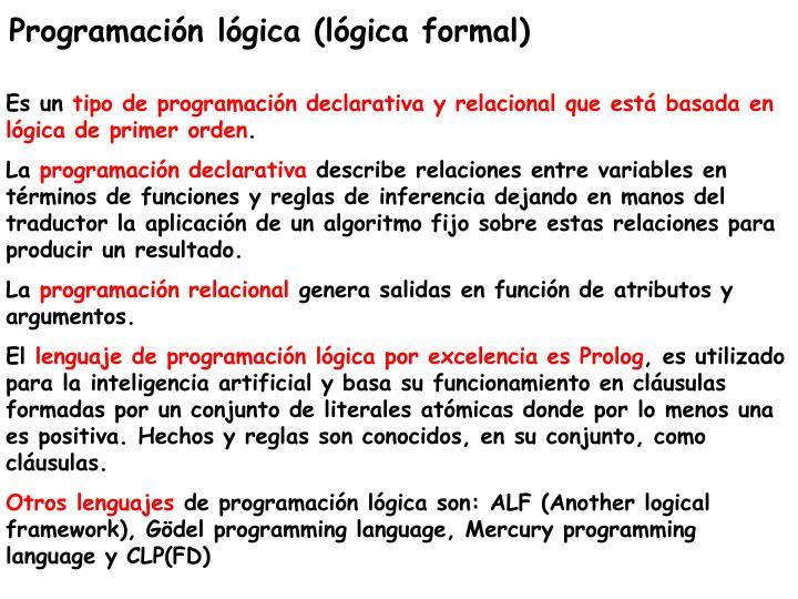 Programación lógica (lógica formal)