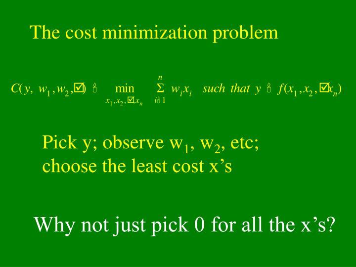 The cost minimization problem