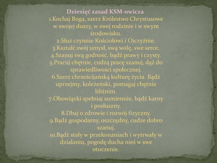 Dziesięć zasad