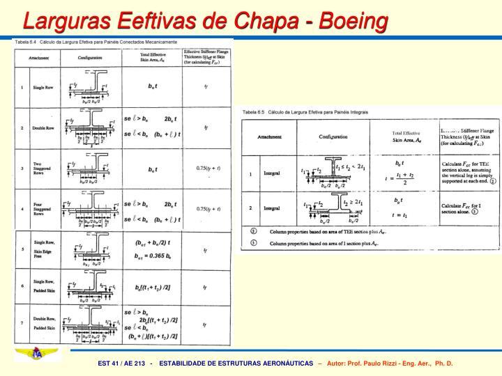 Larguras Eeftivas de Chapa - Boeing