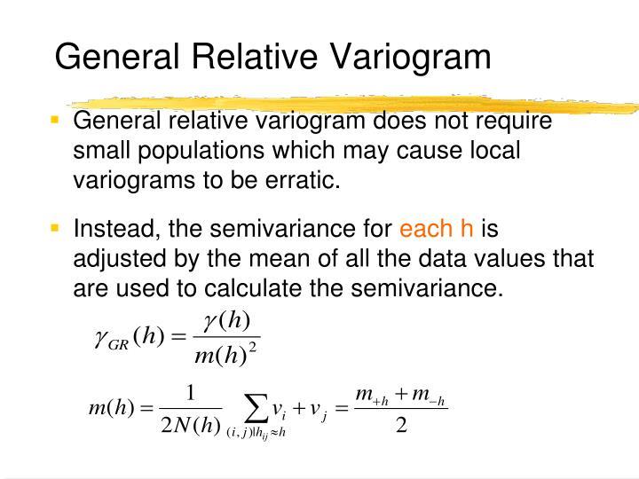 General Relative Variogram