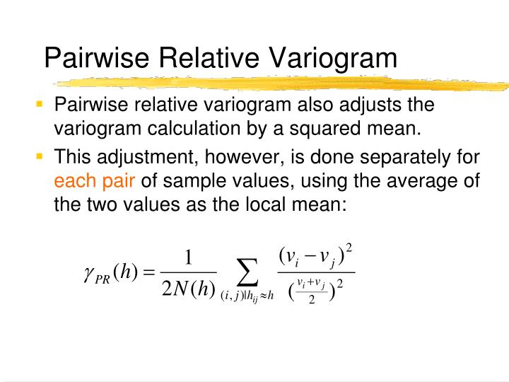 Pairwise Relative Variogram