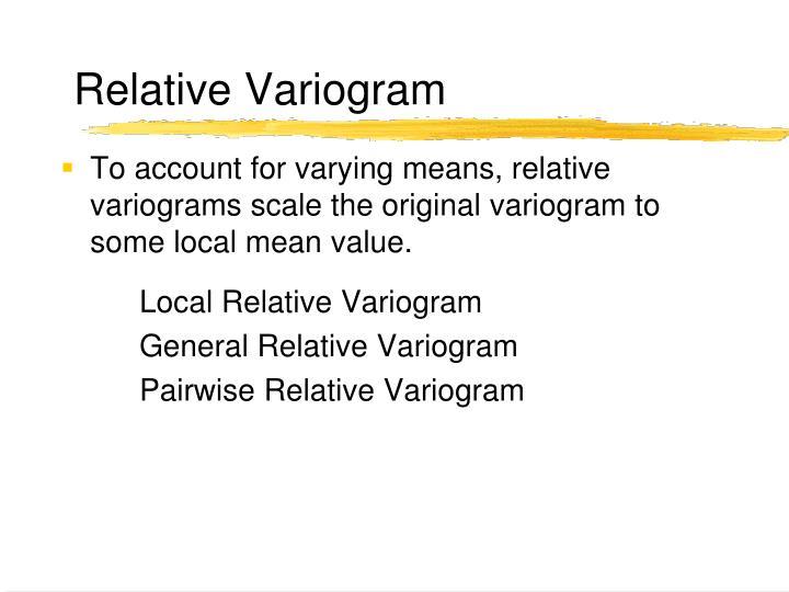 Relative Variogram