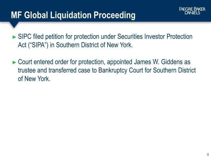MF Global Liquidation Proceeding