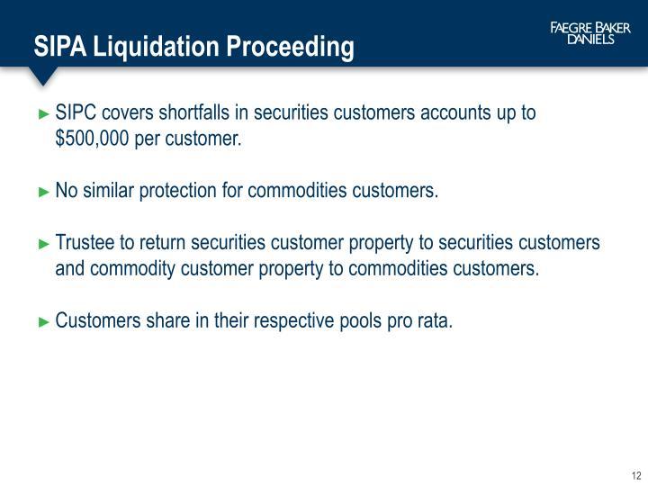 SIPA Liquidation Proceeding