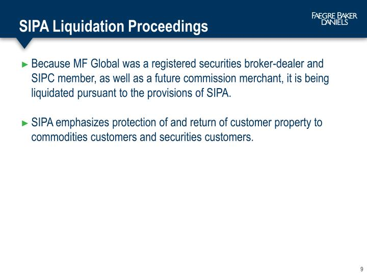SIPA Liquidation Proceedings