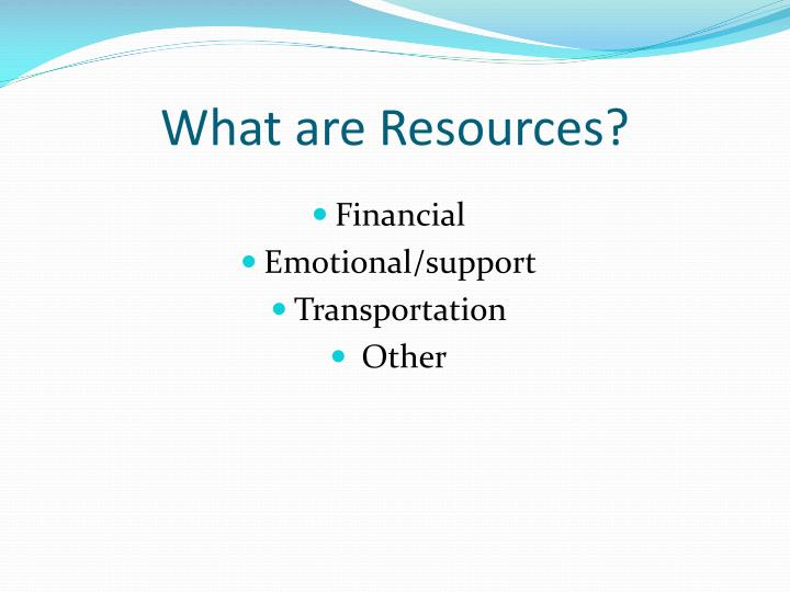What are Resources?