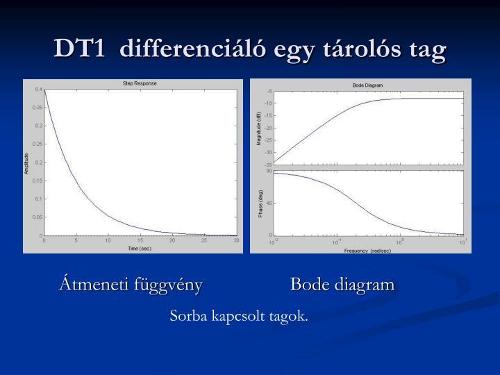 DT1  differenciáló egy tárolós tag