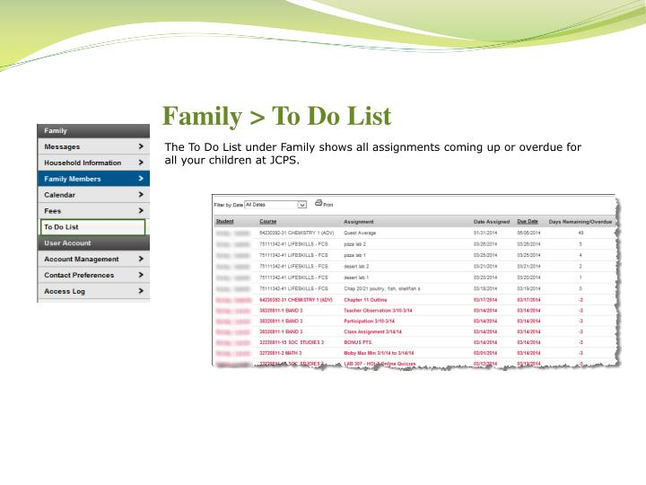 Family > To Do List