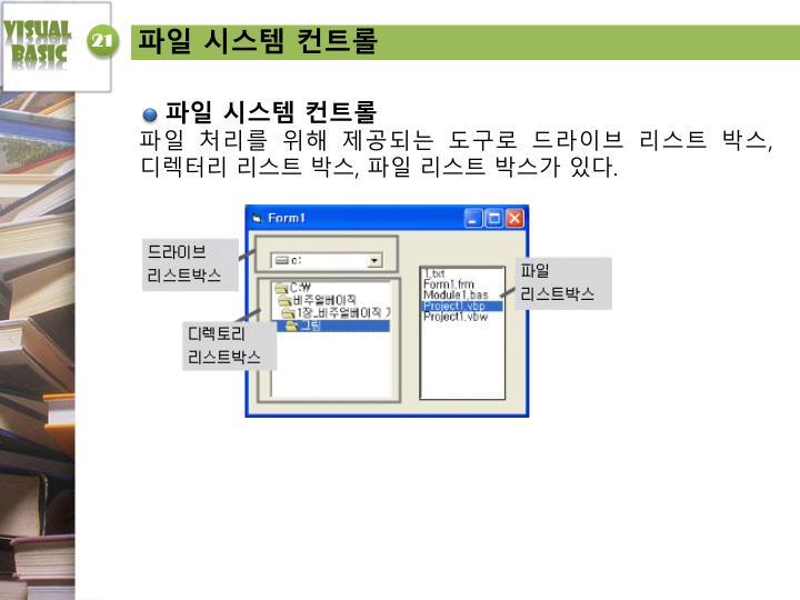파일 시스템 컨트롤