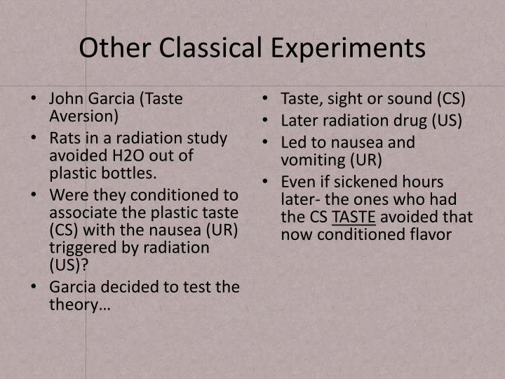 Other Classical Experiments