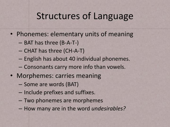 Structures of Language