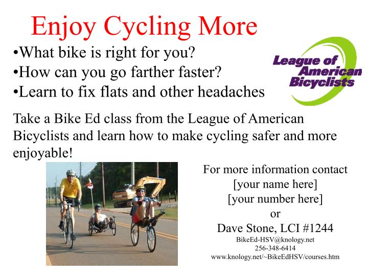 Enjoy Cycling More