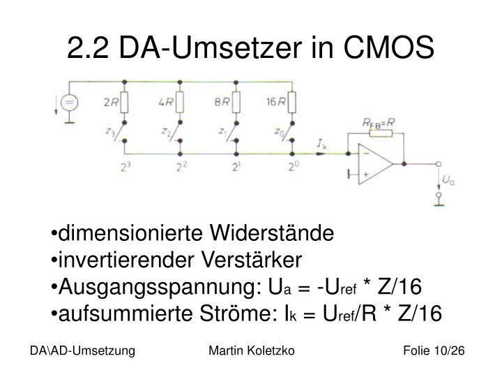 2.2 DA-Umsetzer in CMOS