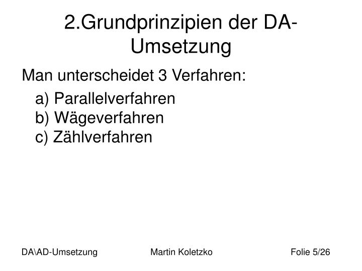 2.Grundprinzipien der DA-Umsetzung