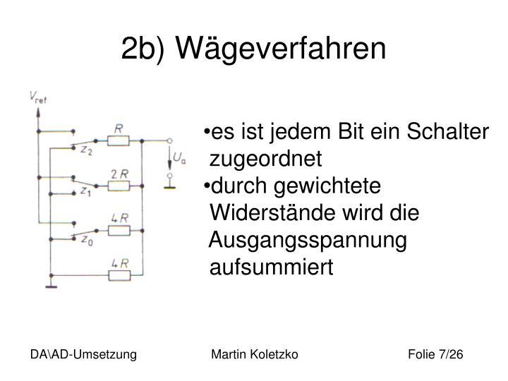 2b) Wägeverfahren