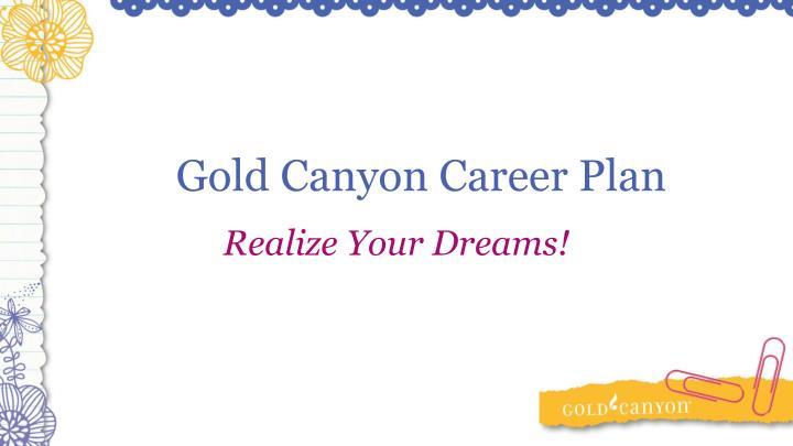 Gold Canyon Career Plan