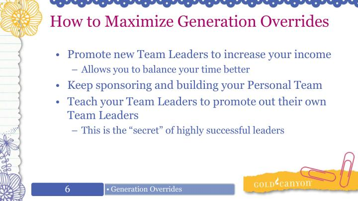 How to Maximize Generation Overrides