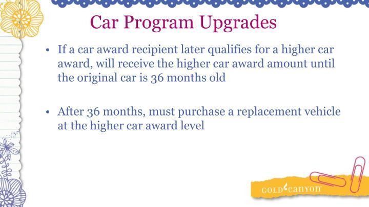 Car Program Upgrades