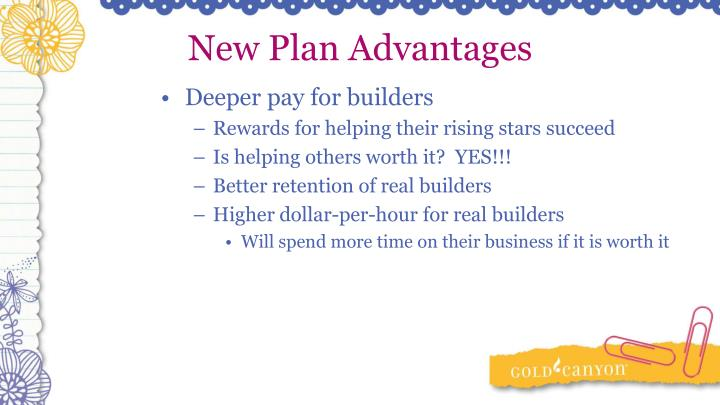 New Plan Advantages