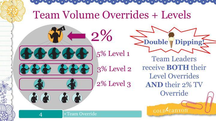 Team Volume Overrides + Levels