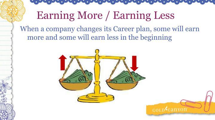 Earning More / Earning Less