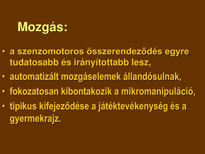 Mozgás:
