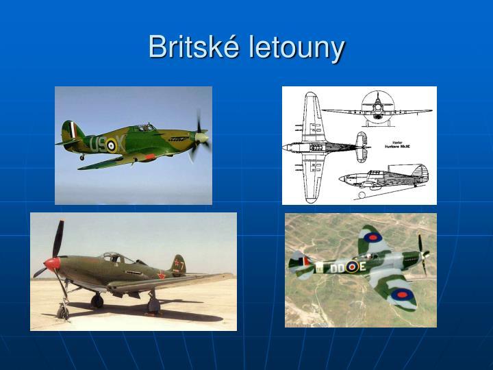 Britské letouny