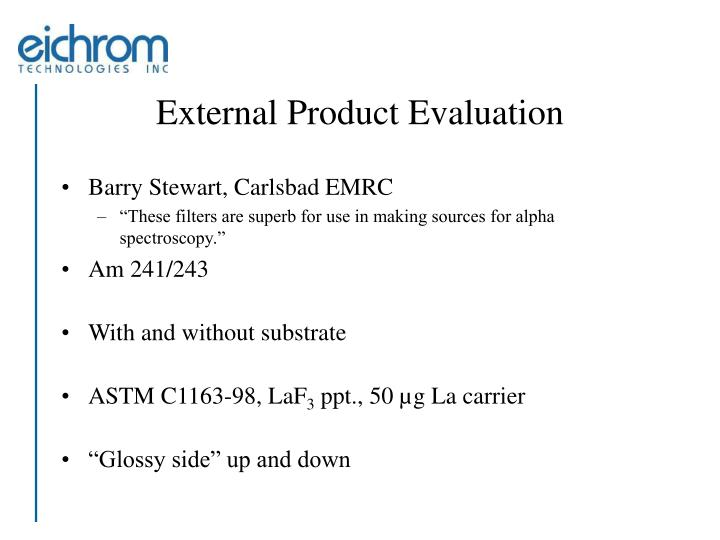 External Product Evaluation