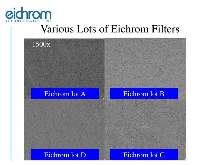 Eichrom lot A