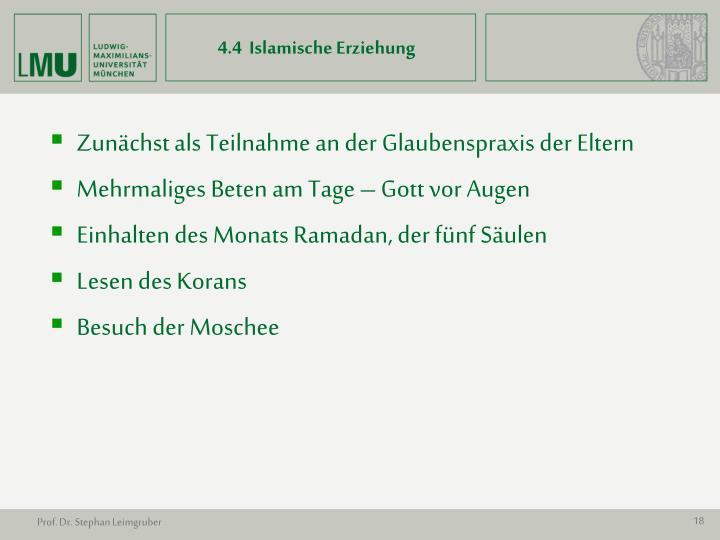 4.4  Islamische Erziehung