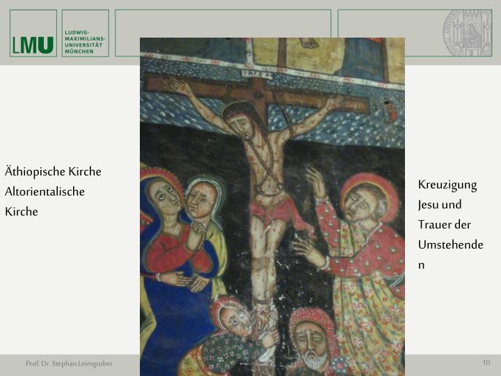 Kreuzigung Jesu und Trauer der Umstehenden