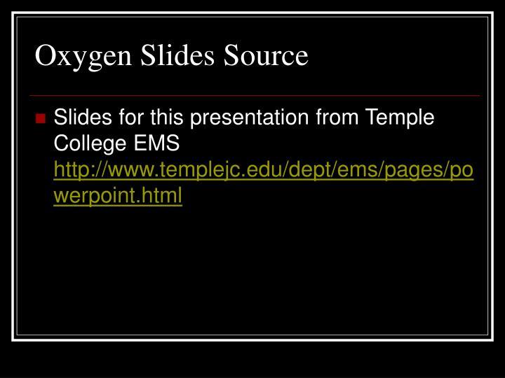Oxygen Slides Source