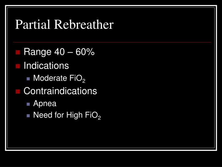 Partial Rebreather