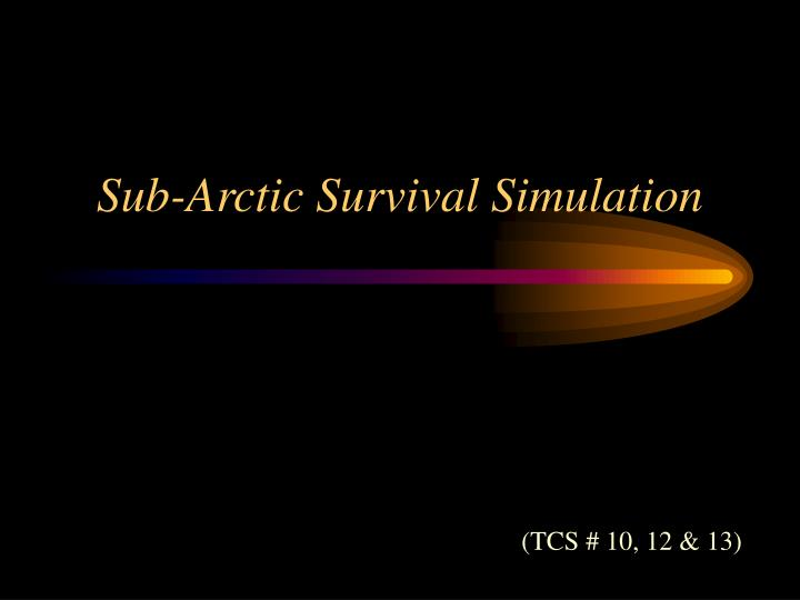 Sub-Arctic Survival Simulation