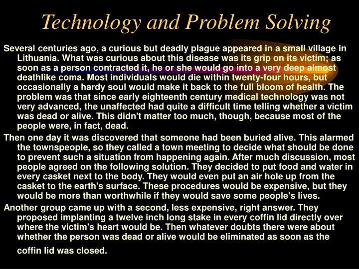 Technology and Problem Solving